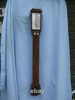 Mahogany Stick Barometer By Adie The Strand London C1900/10