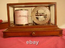 Mahogany cased antique barograph almost certainly by Short & Mason