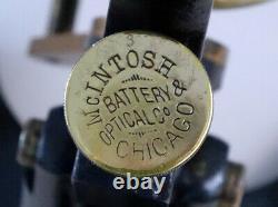 McINTOSH BATTERY & OPTICAL CO, CHICAGO, DUAL PILLAR NEW CLINICAL MICROSCOPE #2
