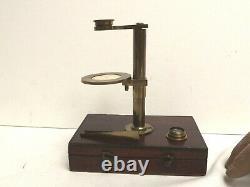 Microscope Botanical Simple C1850 Complete Brass Microscope Working