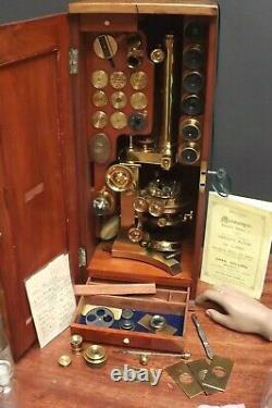 Microscope Charles Collins Grand Harley Binocular Fully Loaded Fine