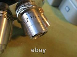 + Microscope, Medical, Orthoplan Mechanical Stage, 5 Objectives, Leitz 715471