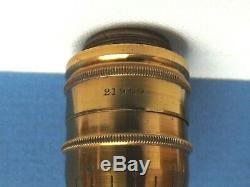 Microscope Objective Ross 4/10th Inch Compensating Lacquer Brass Fine