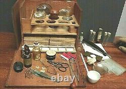 Microscope Slide Preparation Kit C1880 Stanley Wooden Case Qty