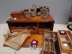 Microscope Slide Slide Preparation Kit W. WATSON Rare Excepional