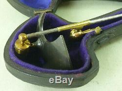 Microscope Stage Reflector Brass Parabolic Mirror Cased Lieberkuhn