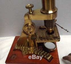 Microscope Watson & Son Rare/Unique Development Microscope! C1860 Fine