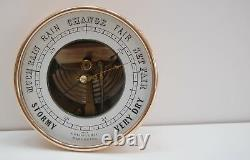 Mid-victorian Open Dial Holosteric Aneroid Barometer By Naudet (pnhb)