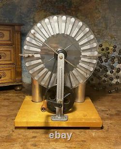 ORIGINAL 1950s VINTAGE WIMSHURST MACHINE ELECTRICITY GENERATOR
