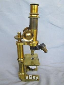 Old Rare Original German Brass Microscope J. Klönne & G. Müller Berlin c. 1880