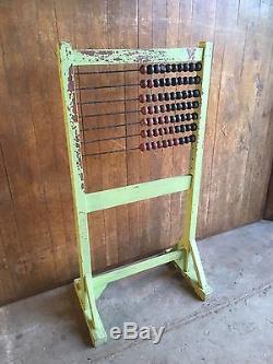 Old School Vintage Antique Industrial Chic Abacus Calculator Freestanding Kids