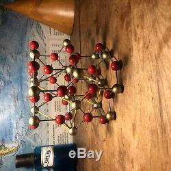 Original GERMAN vintage molecule model of RUTILE / TIANIUM OXIDE 1955