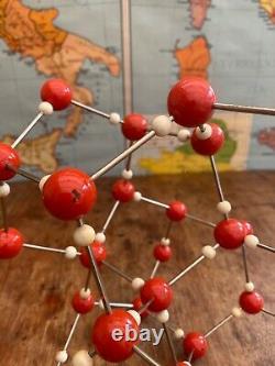 Original Vintage Crystal Molecule Model Of Ice H2o Teaching Aid Circa 1965