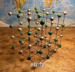 Original Vintage Molecular Model Of Sodium Chloride Salt
