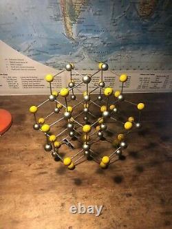 Original Vintage Molecule Model Of Sphalerite Zinc German Schools Colleges 1955
