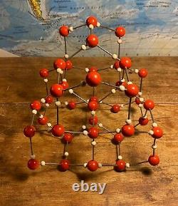Original vintage atomic molecule model of WATER H2o German schools colleges 1955