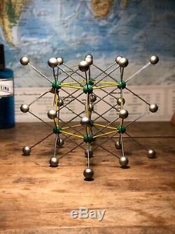 Original vintage molecule model of Caesium chloride German schools and colleges