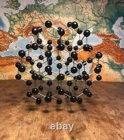 Original vintage molecule model of GRAPHITE German schools and colleges 1955