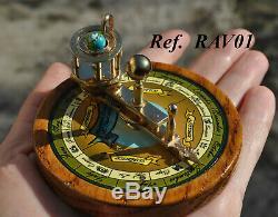 Orrery Brass and Wood Ferguson paradox miniature planetarium planetario globe