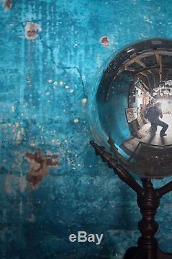 Pair of Scientific Mercury Witches Ball on Stands Antique Curio Unusual Interior