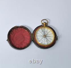 Pocket compass in case Carpenter & Westley
