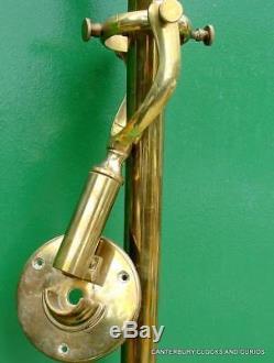 R. N Desterro Lisbon Vintage Ships Marine Gimbaled Brass Stick Barometer