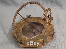Rare 18th Century Equatorial-Equinoctial Sundial-Compass, Augsburg Dial Timepiece
