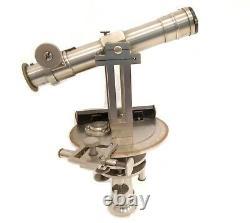 Rare Antique 1870 Miniature Geodesic Alignment Circle Telescope Paris Theodolite