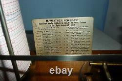 Rare Antique 1920S Tyco Stormograph Barograph By Short And Mason Working Order