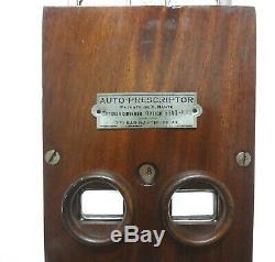 Rare Antique 1920 Large Auto Prescriptor Oculist Optometer Optometrist Optometry