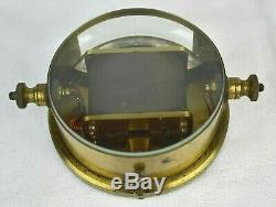 Rare Antique Brass Horizontal Moving-Magnet Galvanometer GPO Pattern Reid Bros