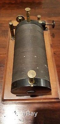 Rare Antique Scientific Ruhmkorff Induction Coil