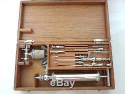 Rare Antique Unused Military Field Miniature Blood Transfusion Kit Set Cased See