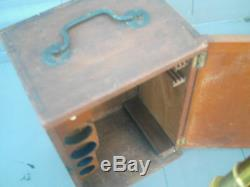 Rare Antique Vintage Cased Swift Microscope & Wooden Case