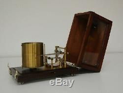 Rare Cased Aviation Bourdon Tube Barograph By Richard Freres Of Paris