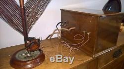 Rare Ducretet-BR6 Valve Radio with Phono, original Loop antenna and Philips Spk