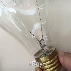 Rare Edison Screw Electric Light Bulb with original Holder 1899-1901