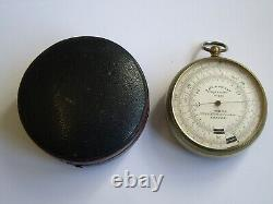 Rare J. Hicks'watkin Patent' Double Circuit Pocket Barometer Altimeter Working