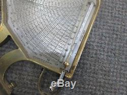 Rare Lloyd's Hygrodeik By Tyco's Taylor 1903 Brass Humidity Gauge