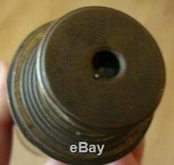 Rare antique brass eight draw telescope made by Rowland Bristol