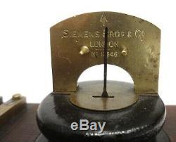 Rarest Antique 1890 Siemens Railway Telegraph Key & Sounder Double Morse Station