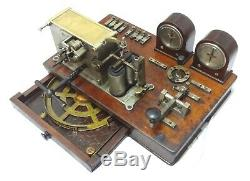 Rarest Antique Railroad Telegraph Sending Receiving Station Morse Ink Writer See