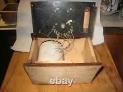 SCARCE 1923 RADJO Electric City Novelty Co. Crystal Radio Schenectady NY