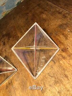 SET OF 4 VINTAGE 1950s GEOMETRIC SHAPES MATHEMATICS SCHOOL TEACHING MODELS