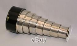Seven draw silver plated monocular spyglass / telescope