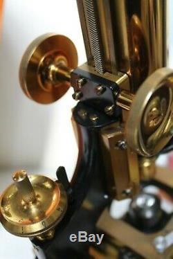 Superb Antique Watson Edinburgh Modelh Microscope Outfit + Accessories