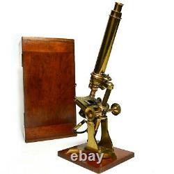 Superb Large Antique Ross pattern microscope, J H Steward of London, Victorian
