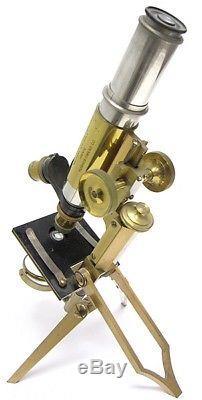 Swift & Sons no. 465 compound Field Microscope in Leather Case circa 1890