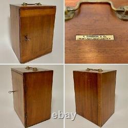 The DAVON Antique Victorian Brass Microscope Micro Telescope in Box with Lenses