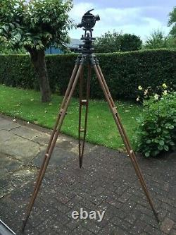 Theodolite and Tripod, Surveyors Hilger Watts Surveying Instrument. Antique 1960